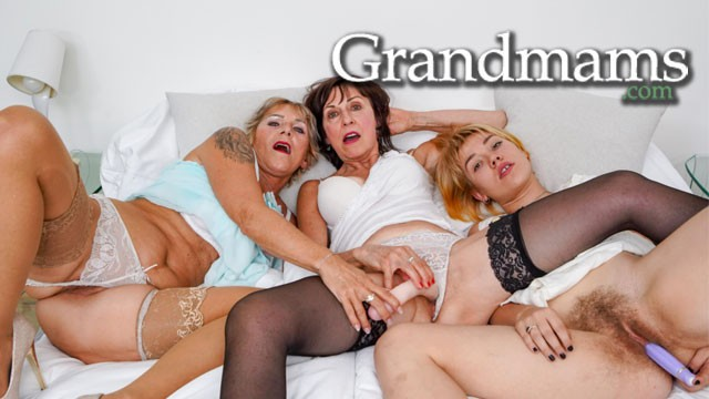 Two Shaved Grandmothers and their Full Bush Niece