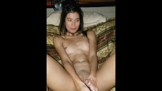 Asian Slut Hotwife Humiliates Small Dick Husband While Playing SPH