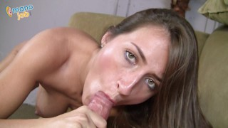 Screen Capture of Video Titled: Lizz Tayler is a DIRTY TALKING SLUT who loves FINISHING THE JOB for a MESSY JIZZ FACIAL!!