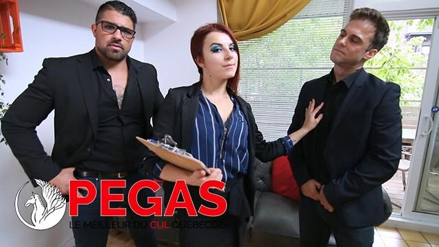Pegas Productions - L'Agente Vent Son Cul a 2 Gars!