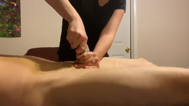 Extreme Post Orgasm Torture on the Head After he Cums