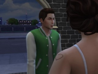 Teen Student Sneaks Out To Fuck Hot Professor – (My Art Professor – Episode 3) – Sims 4