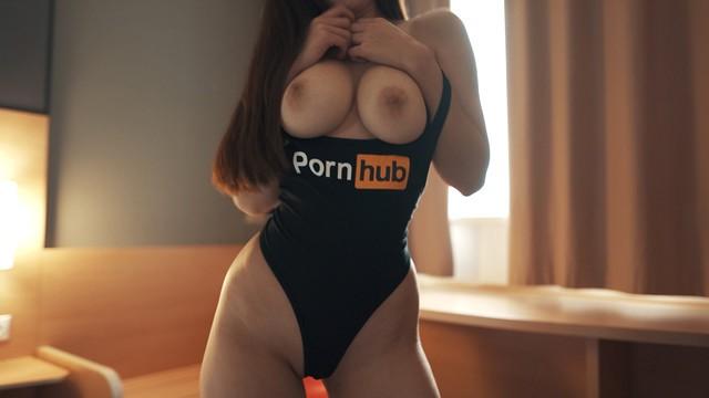 Fuck me in my new Pornhub bodysuit! Amateur model POV sex - Diana Daniels
