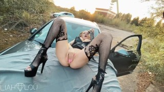 Stranded In Nature and Fucked On Car - Amateur LiahLou