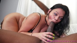 Phat ASS Persian Milf Mona Azar takes 10 inch black dick deep in her tight pussy