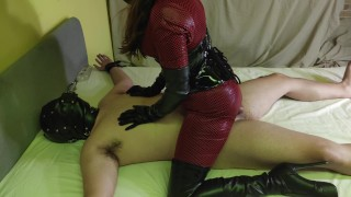 Pegged, Fucked & Used By Goddess In Thigh High Leather Boots - Ends In Creampie