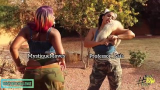 @mystiquemoves does the Megtheestallion BodyChallenge BlackPornMatters Edition