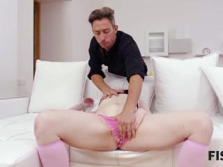 FIST4K. Masturbation is boring so girl asks guy to fist her twat instead