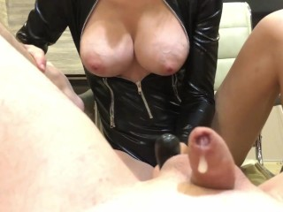 Prostate cum with cumeating for a latex Mistress. Short version