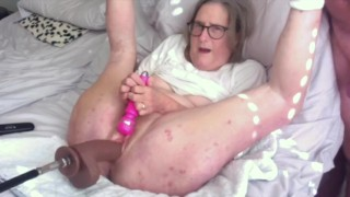 Mature Stepmom Gets Spread Wide And Gets A BBC Fucking Machine