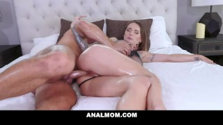Naggy stepmom gets her ass fucked