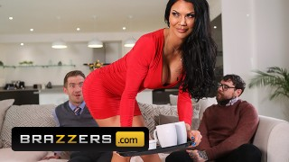 Brazzers - Busty Wife Jasmine Jae Jumps On Her Husband's Friend Big Cock