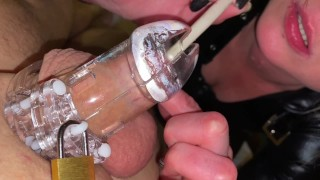 POV Playing with Dick in Chastity Belt make him Limp and Hard
