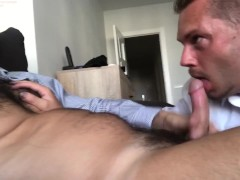 Blowjob for my boss and huge cumshot facial is a great bonus for employee of the year 2020