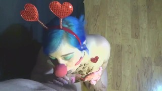 Messy Valentine's Day wam sex FREE PREVIEW chocolate syrup body writing doggystyle