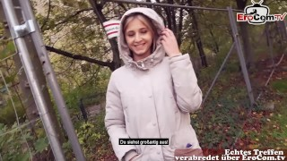 REAL DATE - Normal girl next door fuck in forest NO CONDOM