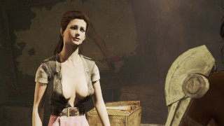 Lesbian sex with secretary of detective Valentine   Fallout porno