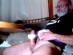 Being milked by the wanking machine as it empties my balls hands free - trailer
