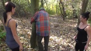 2 cruel german girls whip grandpaps tommy outdoor