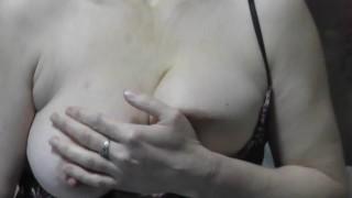 Naked kitch. Milf in transparent negligee without panties prepares dessert masturbating pussy orgasm