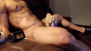 Powerful Vibrator ( Hitachi Wand ) gives Straight guy a Wonderful self Facial
