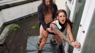 Flasher Billy king gets made to lick Jordanna Foxx soaking wet  pussy