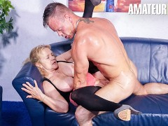 HausfrauFicken - Blonde German Granny Hardcore Cheating Sex With Young Stud - AMATEUREURO