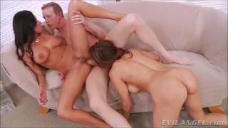 HOT MILF Anal Big Dick Threesome Anissa Kate Francesca Le