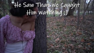 Caught Compilation Many Times Strangers Caught us in Public Having Risky Sex and Blowjob w/ Cumshot