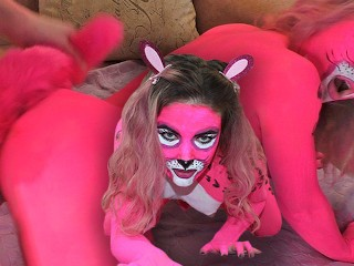 Lover Passionate Fuck Pink Panther after the Costume Party