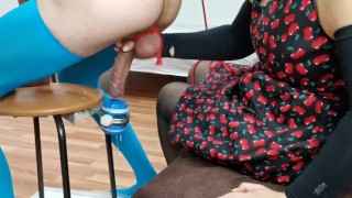 Milking Chair (Fuck flashlight) HUGE Cumshot. Shut up and Sit down if you want to CUM.