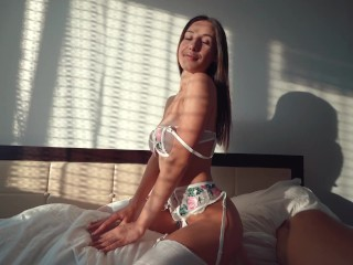 Morning Creamy GF Tight Pussy after college suck and Ride then get hard Fucked