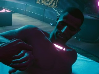 Cyberpunk 2077. Sex with a guy, a prostitute. Offered himself on the street | PC gameplay