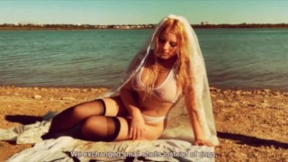 Blonde Bridal Fantasy Dirty Poem Reading, Softcore Solo Masturbation Art Film