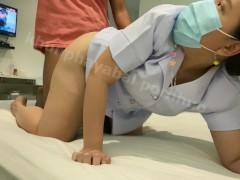 พยาบาลโดนแตกใส่ปาก น้ำทะลักเต็มปาก เย็ดกันโครตเดือด คุยไปเย็ดไป เสียงไทย Thai nurse FWB