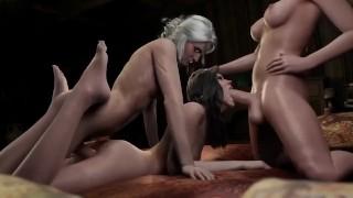 3d witcher futanari porn mix video