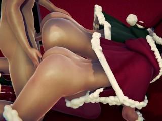 Christmas Threesome Part 1
