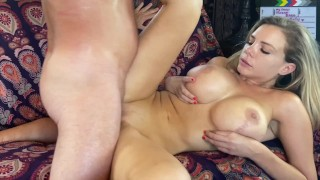 Titty Fuck Huge tits Hard Fuck on Deepthroat boat with Blake Blakely by Original MILF Hunter