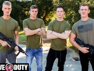 Picture of Savage Military Foursome Bareback Fuck Each Other - ActiveDuty