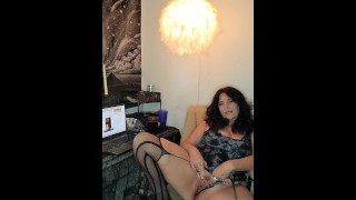 Amateur mature stepmom gives JOI with cum denial and smoking