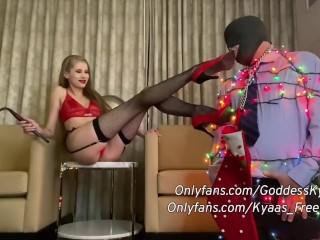 Kyaamas Femdom BDSM Holiday Special - Gimp Christmas Tree Tease