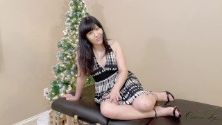 Shy Asian Gets Ruined Dildo Roleplay Anal By Xmas Tree Foursome Gone Wrong Preview