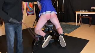Cheerleader humiliation spanking - BDSM