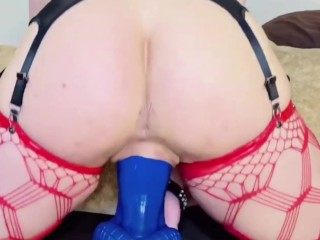 MILF Riding Monster Bad Dragon – Grinding Squirting