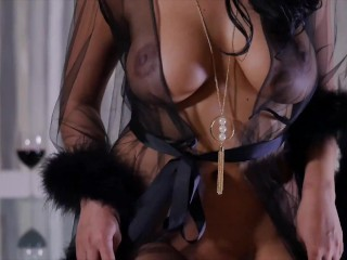 Hot Kira Queen seduced her neighbor and fucked him on the dining table