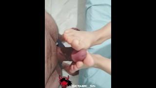 فوت فیتیش با حرفای سکسی حشری کننده-foot fetish with Lustful setare foot-iran,irani,vatani