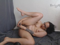 Trying to fit too big dildo