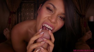 Screen Capture of Video Titled: Requiem For A Slayer - Meana Wolf - Vampire Fang BJ Horror Anal