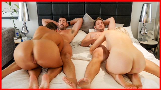 Two Couples Fuck together on Holidays - first Lesbian Scene Vlog