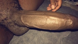 VID 100: STROKING MY THICK BLACK COCK UNTIL I EXPLODE & KEEP PLAYING WHILE TALKING DIRTY & CUM AGAIN